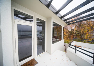 Aluminium joinery retrofit double glazed
