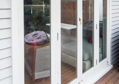 Timber retrofit double glazing, french doors