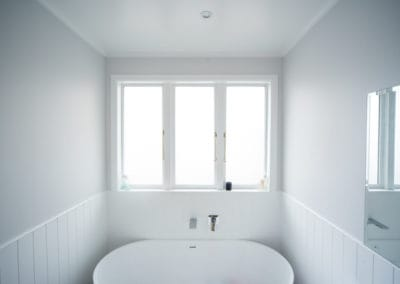 Timber retrofit double glazing, obscure safety glass for bathroom